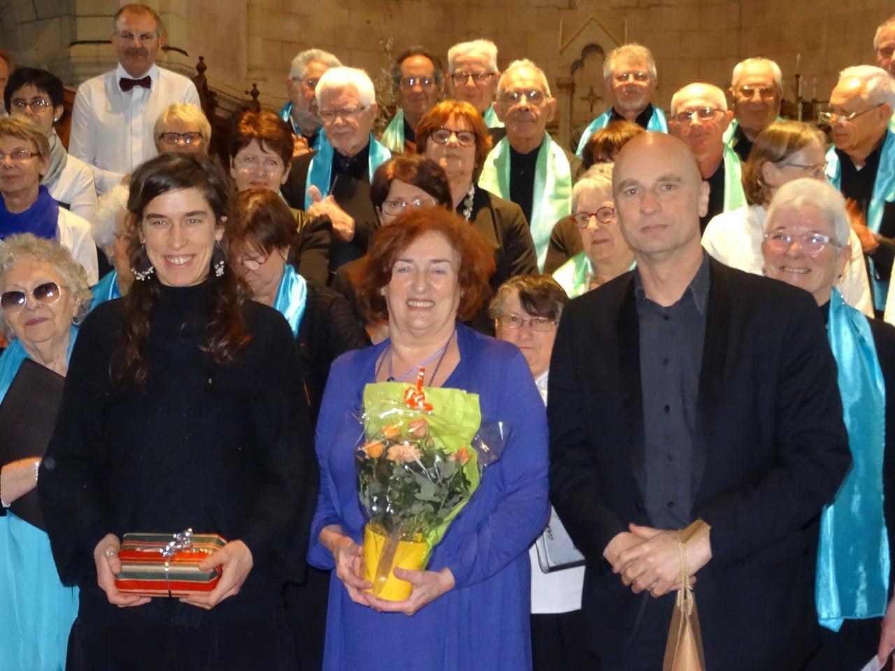 Concert à Brains des deux Chorales Cantabile à Brains