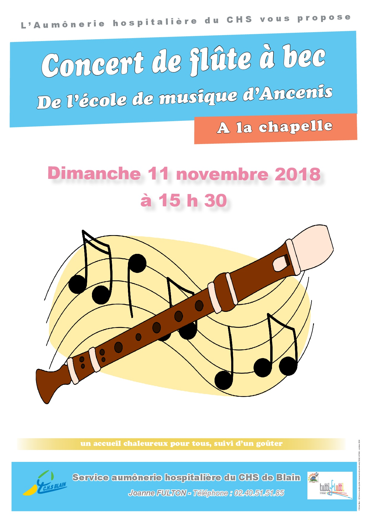 Aff661 concert flute a bec